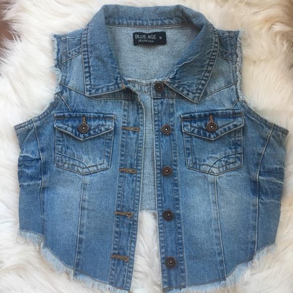 1b30ed3b66 blue Age Jackets   Blazers - Blue Age Jeans USA jean vest Size S